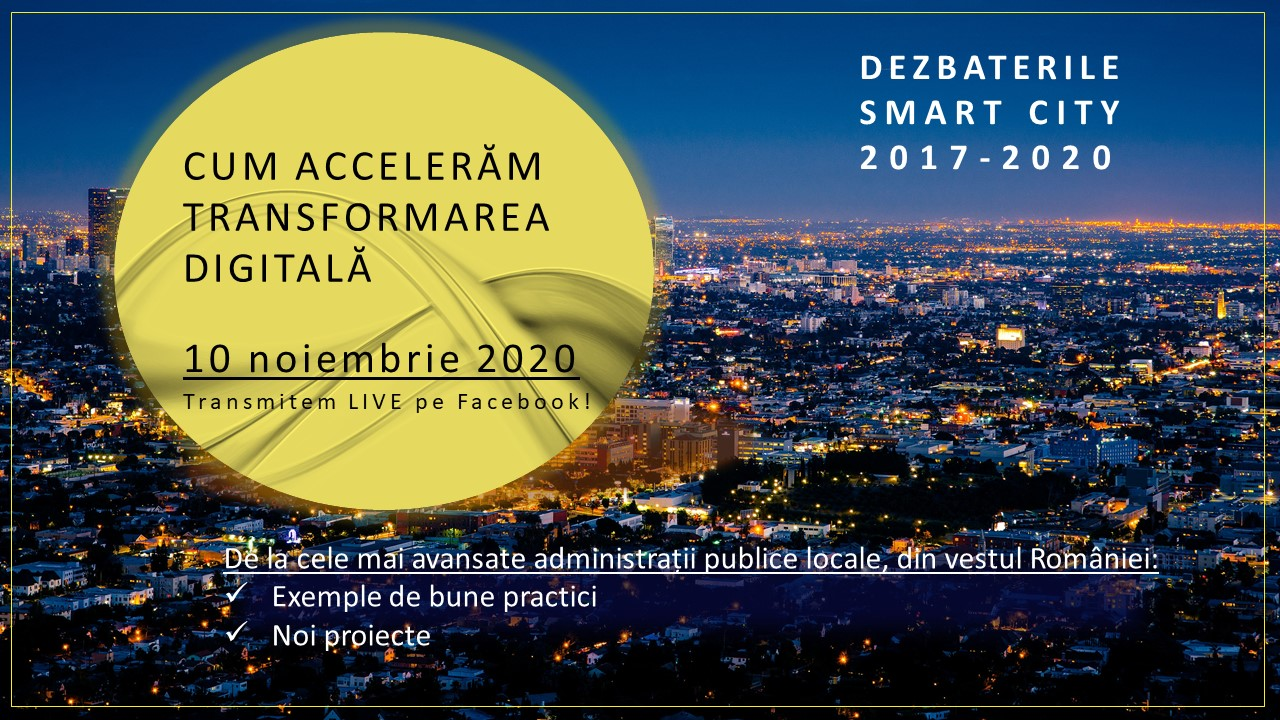 Banner Smart City-Transformarea Digitala 2020